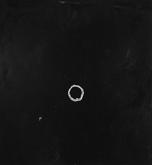 "Smoke Ring, 1975, acrylic on canvas, 92 x 78"""