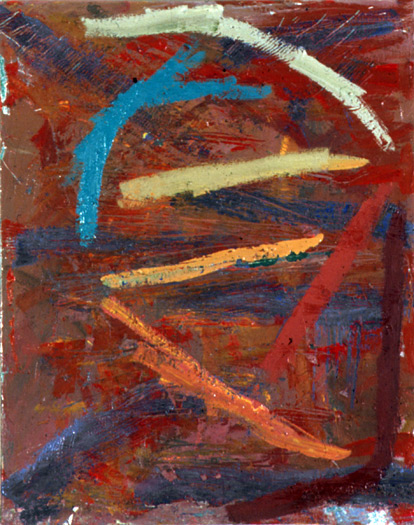 untitled , 1979, oil on canvas, 21 x 17""