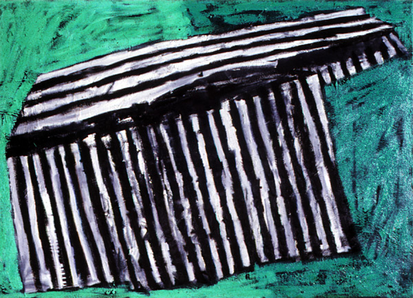 Piano, 1982, oil on canvas, 40 x 56""