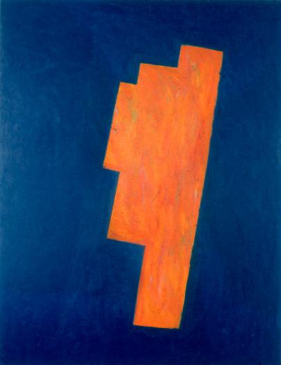 "Orange Steps, 1980, oil on canvas, 72 x 54"""
