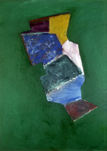 "Piñata, 1980, oil on canvas, 84 x 60"""