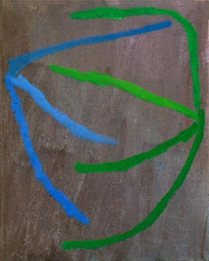 "3 into 4 abbh, 1979, oil on canvas, 21 x 17"""