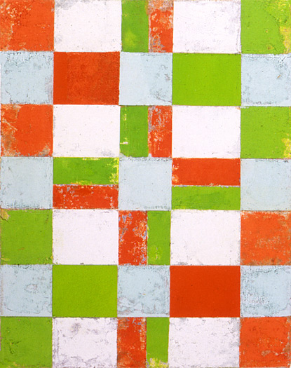 Four by Four, 1990, oil on canvas, 14 x 11""