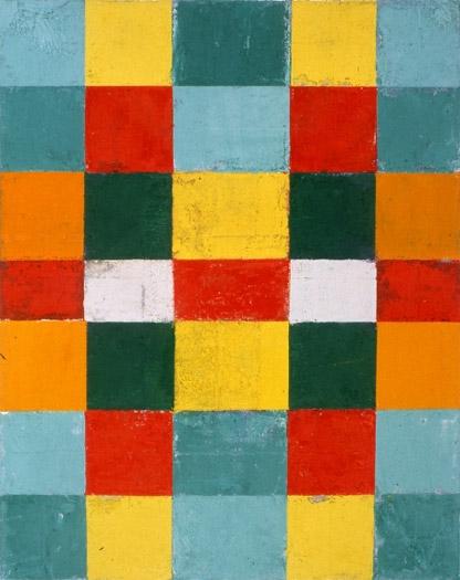 "Orange Sides, 1990, oil on canvas, 14 x 11"""