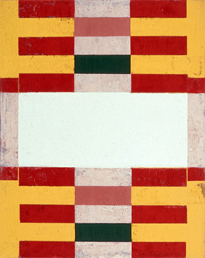 Indian Ladder, 1990, oil on canvas, 14 x 11""