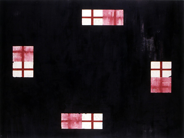 """Kiva, 1991, oil on canvas, 54 x 72"""""""