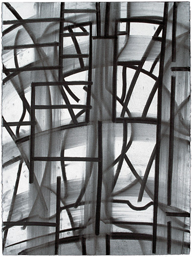 """Builder, 1993, charcoal on paper, 30 x 22"""""""