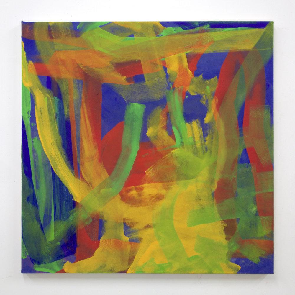 """Summer '16 -11, 2016, acrylic on canvas, 36 x 36"""""""