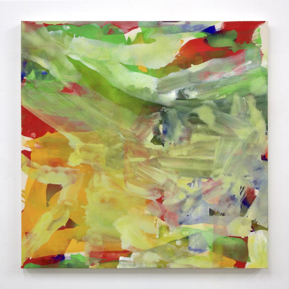 """Summer '16 -4, 2016, acrylic on canvas, 36 x 36"""""""