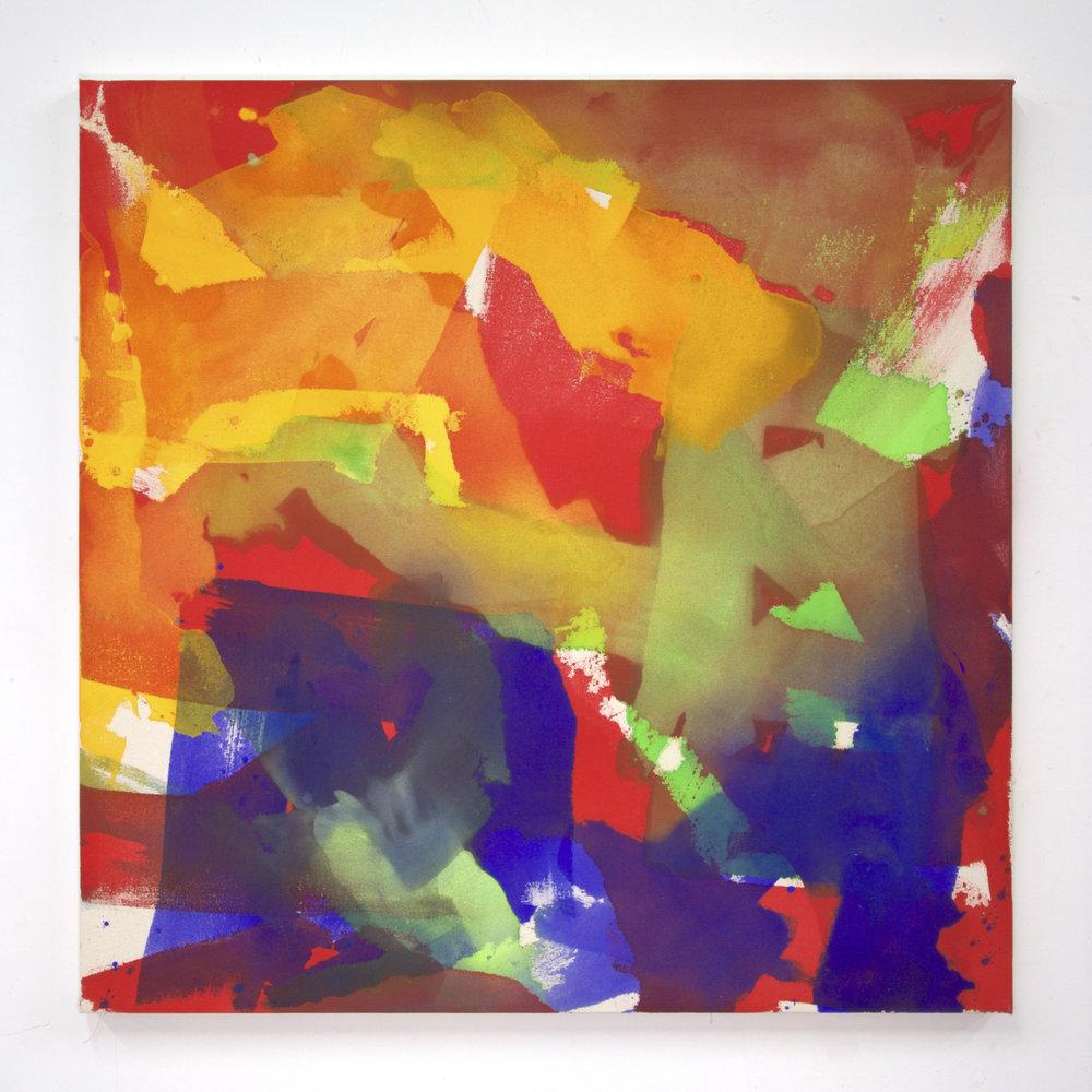 """Summer '16 -1, 2016, acrylic on canvas, 36 x 36"""""""