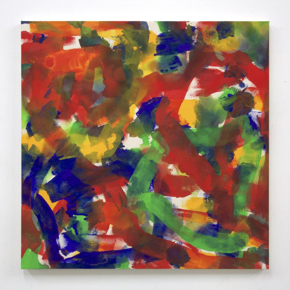 """Summer '16 -10, 2016, acrylic on canvas, 36 x 36"""""""