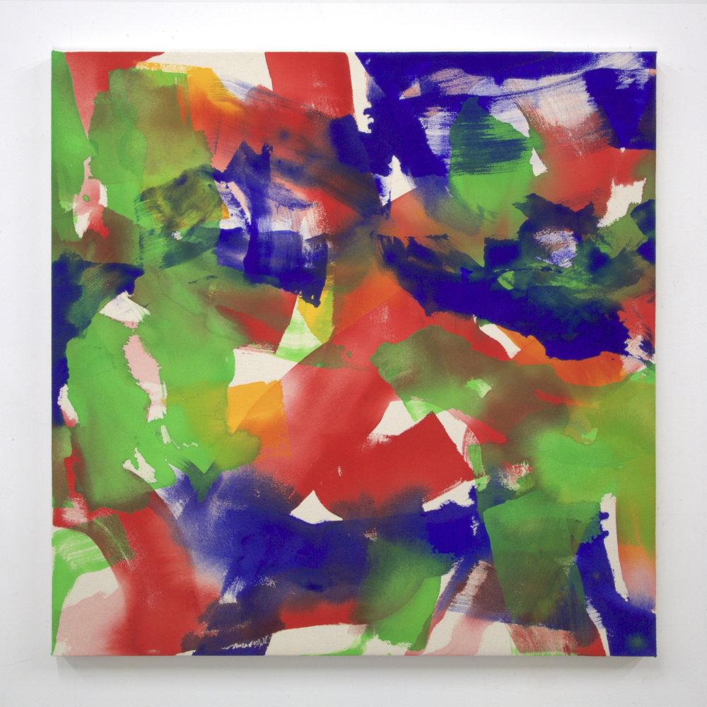 """Summer '16 -7, 2016, acrylic on canvas, 36 x 36"""""""