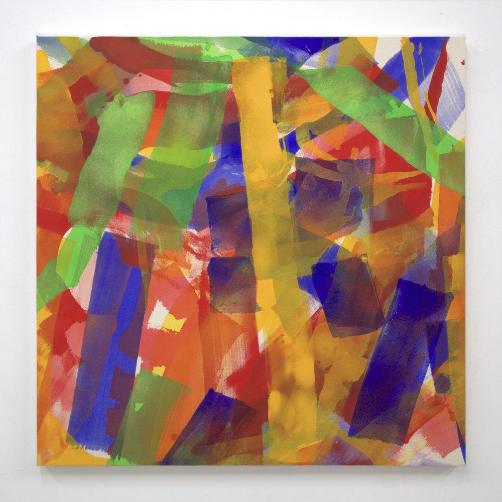 """Summer '16 -6, 2016, acrylic on canvas, 36 x 36"""""""