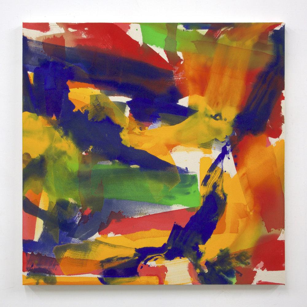"""Summer '16 -8, 2016, acrylic on canvas, 36 x 36"""""""