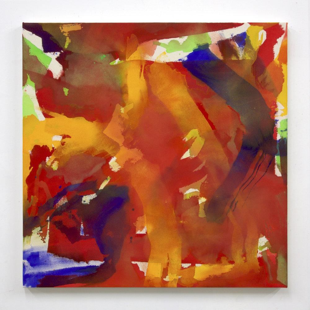 """Summer '16 -3, 2016, acrylic on canvas, 36 x 36"""""""