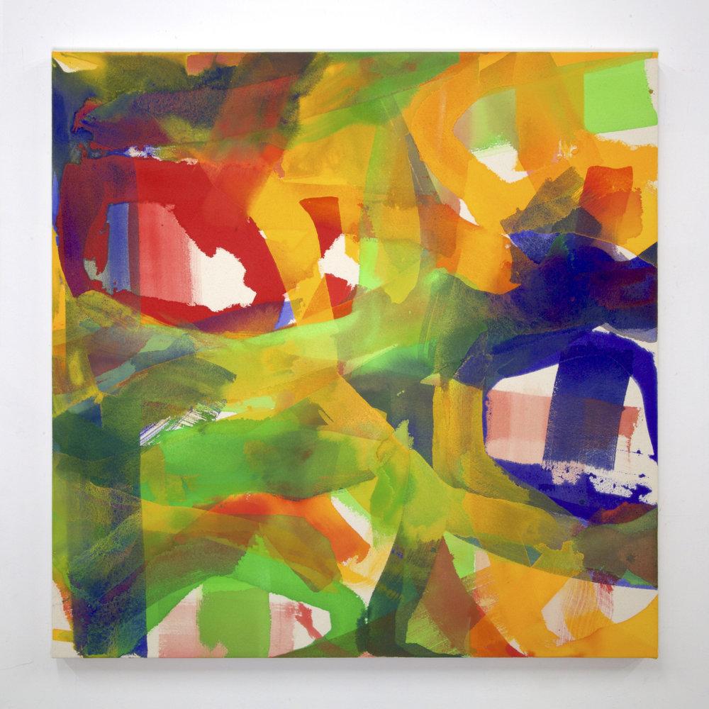 """Summer '16 -9, 2016, acrylic on canvas, 36 x 36"""""""