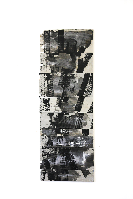 """Editor"", 2013, acrylic on wood shims 50 x 16"""