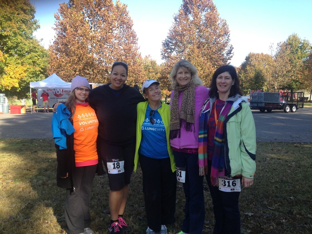 Just a few of the ladies I am so lucky to have as supportive friends! We got together despite the many miles between us for friendship and a good cause!