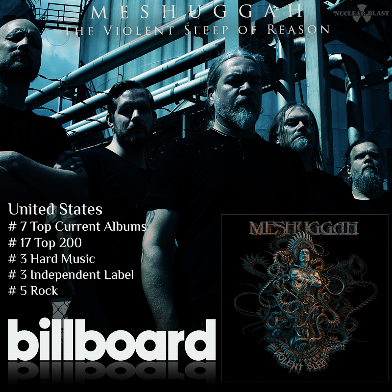 Meshuggah The Violent Sleep Of Reason World Chart Positions