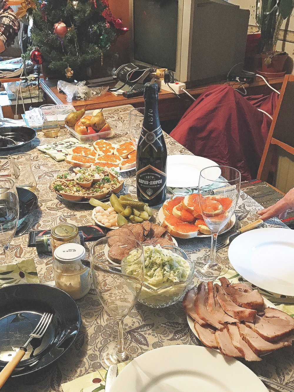 A New Year Celebration Table