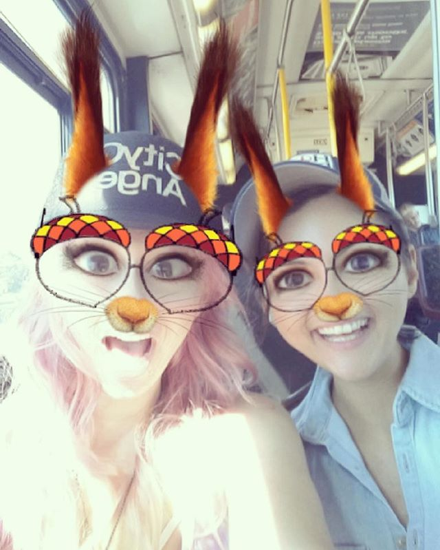 Two squirrels on a Portland bus 😍🐿🍃#fun #portland #travel #adventure @bambirockingyourworld