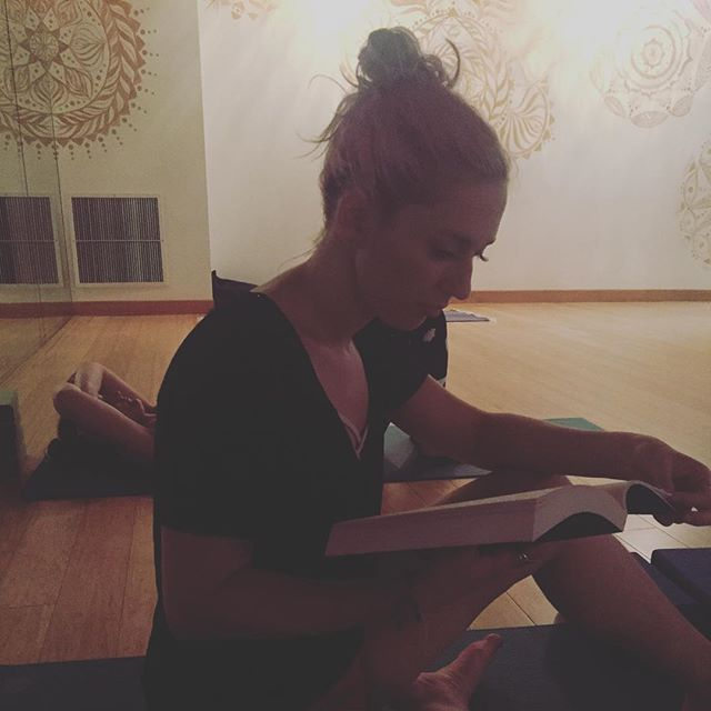 A little light reading before yoga. #yoga #spiritualgangster #love #portland