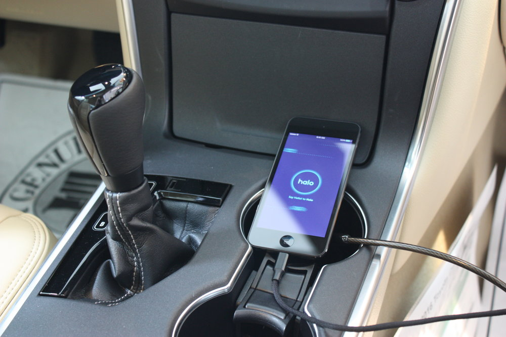 All of which was designed to encourage people to sit in the car and interact with a phone running a looping demo of our app.