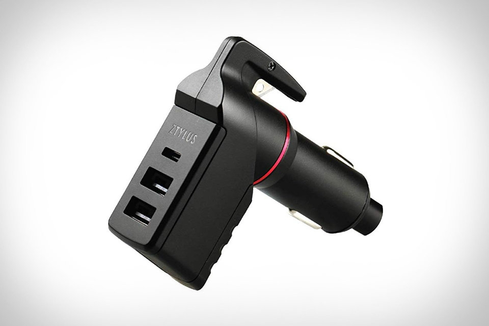 It's the seatbelt cutter of the civy world, The Ztylus Stinger could save your life after an accident. Seat belt cutter + USB Charger = Bad Ass tool.