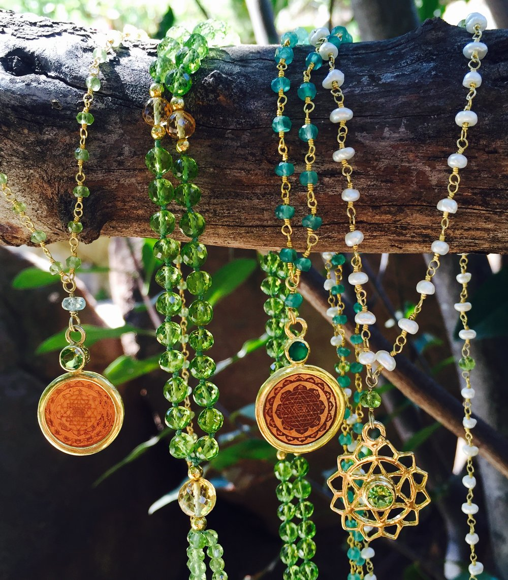 The Sattva Collection Handmade by local artisans and blessed along the banks of the Ganges.  www.thesattvacollection.com