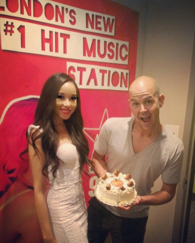 """That cake was really good"" - Jade Jade Naraine at Virgin Radio London, Ontario for her radio introduction tour!! 2017. A Poisonous themed cake to celebrate the launch of her upcoming single and music video; Poisonous."