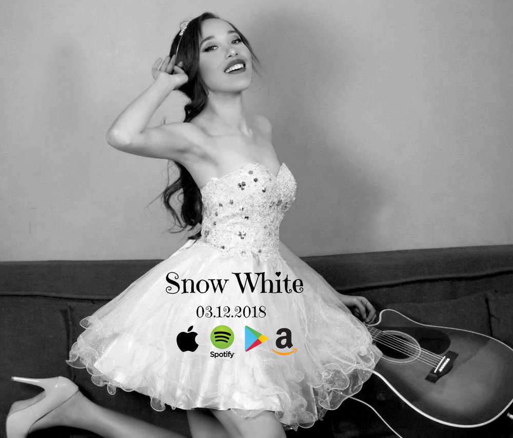 "Jade Naraine's new beautiful Spring radio single; ""Snow White"" will be released to American, Caribbean, European and Canadian radio on March 18th, 2018. Check out some of the lyrics:     Snow White  written by, Jade Naraine      First boy was like lightening, Stastruck   made her feel everything  next boy was  really something  when he left her with nothing  but pain to try and cover up  Last boy was stealing hearts, shooting them with darts, oooh she had no where to go.  They tried to take her out but they missed, now she's stronger than she ever wished.     She was Snow white, she had the prettiest dark hair and dark eyes  Just like Snow white, she had the prettiest dark hair and dark eyes  But no one could see that her soul was kind (woah oh)  All they say was snow white, she thought that maybe everything would be different now  But I don't know how  She had more to give than she would let them take.      she was snow white X 3 (woah oh woah oh)     They'd offer her an apple shinin' so bright  She'd think that she could take a bite.  Beleivin' everything they they'd say was right  And never knowing that the poison would take her life     They couldn't see past her pretty face  Mistakes she made, left her falling from grace  They fired shots at her but they missed  Now she's stronger than she ever wished     She was Snow white, she had the prettiest dark hair and dark eyes  Just like Snow white, she had the prettiest dark hair and dark eyes  But no one could see that her soul was kind (woah oh)  All they say was snow white, she thought that maybe everything would be different now  But I don't know how  She had more to give than she would let them take.      she was snow white X 3 (woah oh woah oh)     Music break     She was Snow white, she had the prettiest dark hair and dark eyes  Just like Snow white, she had the prettiest dark hair and dark eyes  But no one could see that her soul was kind (woah oh)  All they say was snow white, she thought that maybe everything would be different now  But I don't know how  She had more to give than she would let them take.     She was snow white (woah oh woah oh)"