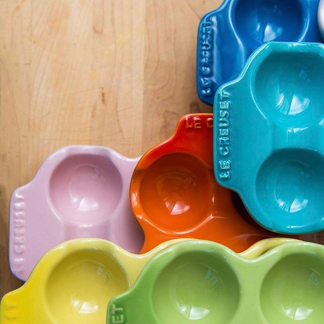 Add these egg cartons to the My Lil' Sous wishlist: Perfect for Easter fun, egg storage and year-round ingredient organization with kids. [Repost @lecreuset Spring is here! Time to start prepping for Easter entertaining and these colorful egg cartons are first on our list 🐣]