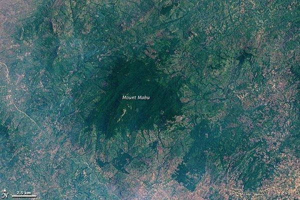 NASA Satellite Image of Mount Mabu 2007