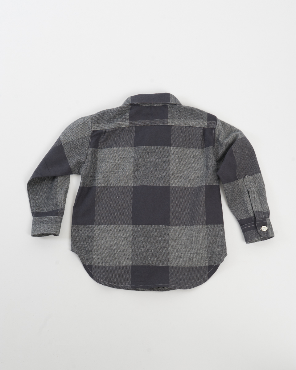 Kids Baby Shirt - Charcoal Check Flannel back.jpg