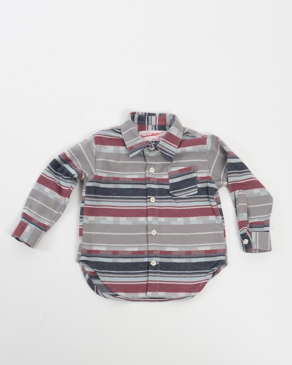 Kids Baby Shirt - Plaid Stripe front.jpg