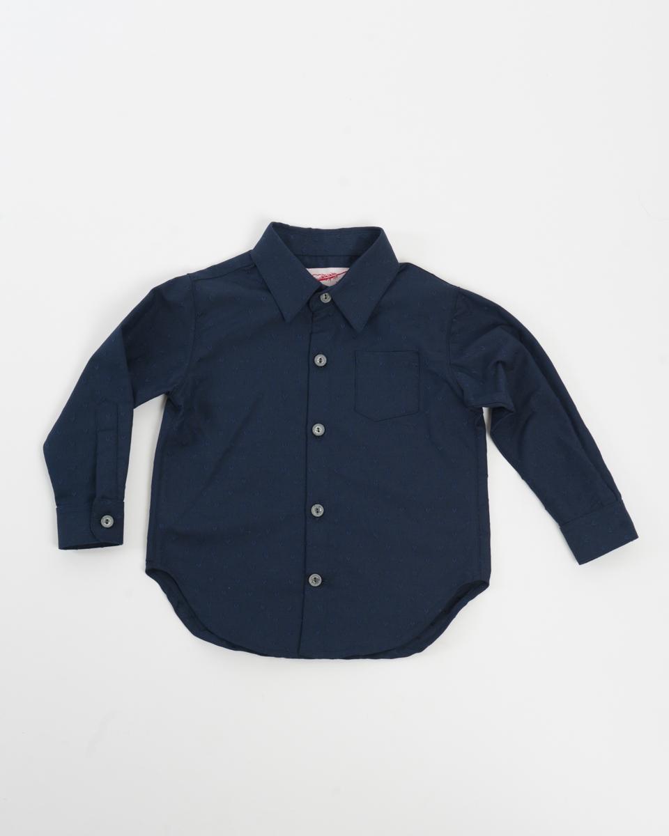 Kids Baby Shirt - Navy Hearts front.jpg