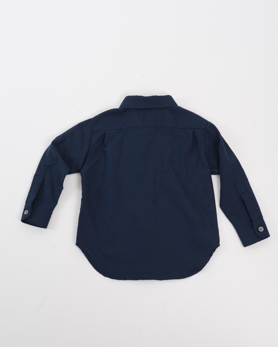 Kids Baby Shirt - Navy Hearts back.jpg