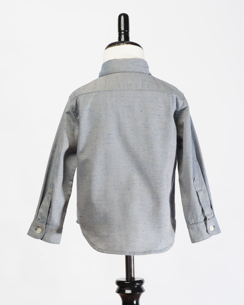 Kids Long Sleeves Grey Fleck Shirt Back FW17.jpg