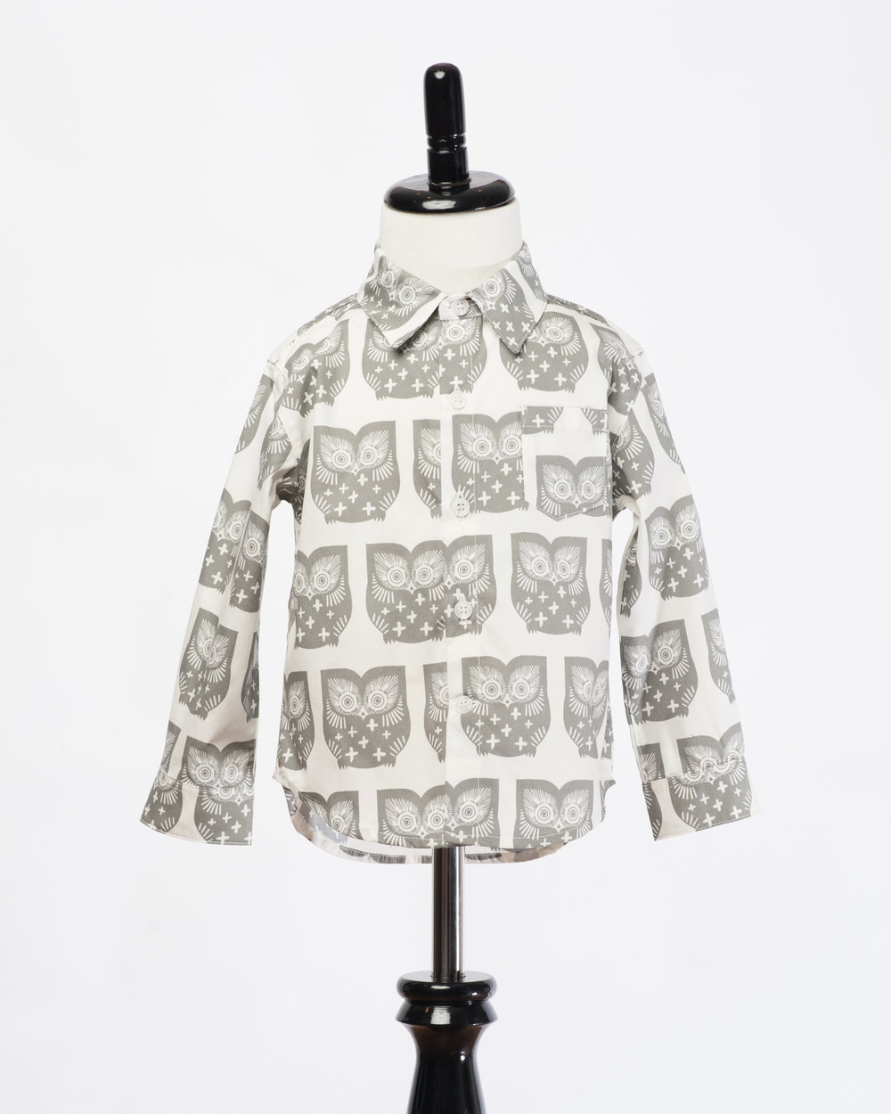 Kids Long Sleeves Owl Shirt Front FW17 .jpg