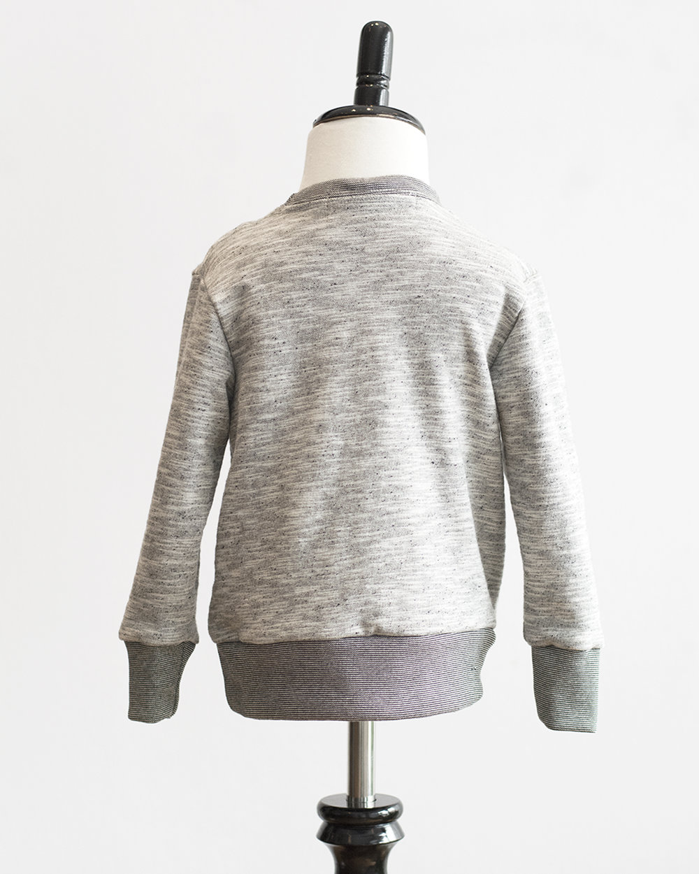 Kids Grey Melange French Terry Sweater Back FW17.jpg