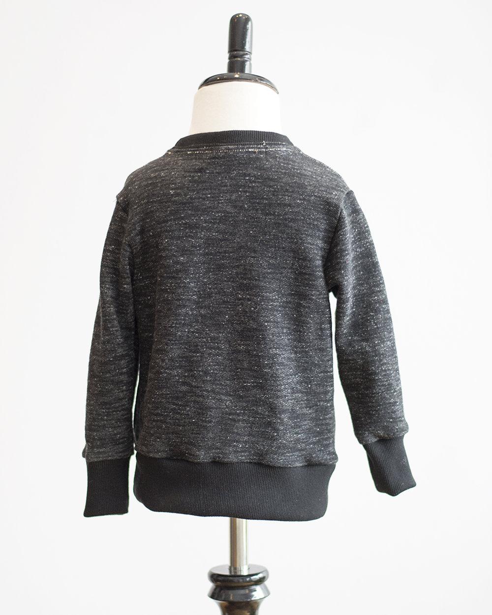 Kids Black Melange French Terry Sweater Back FW17.jpg