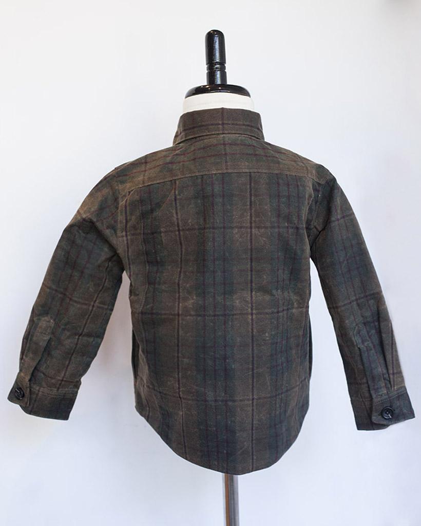 Kids Plaid Wax Weekender Jacket - back.jpg