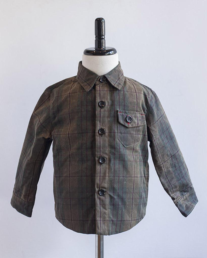 Kids Plaid Wax Weekender Jacket front.jpg
