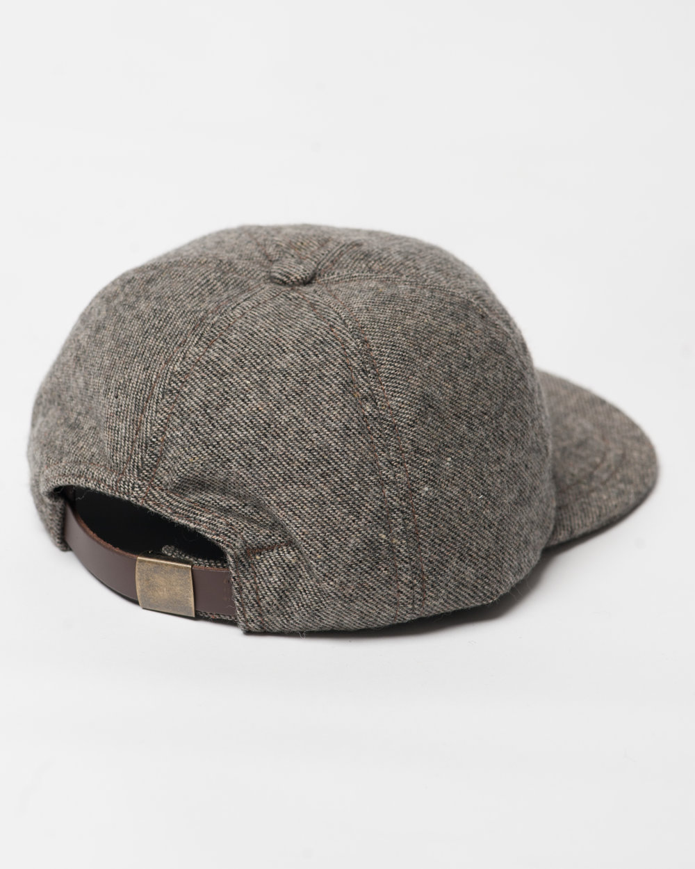 Kids Brown Black Twill Wool Cap Back FW17.jpg