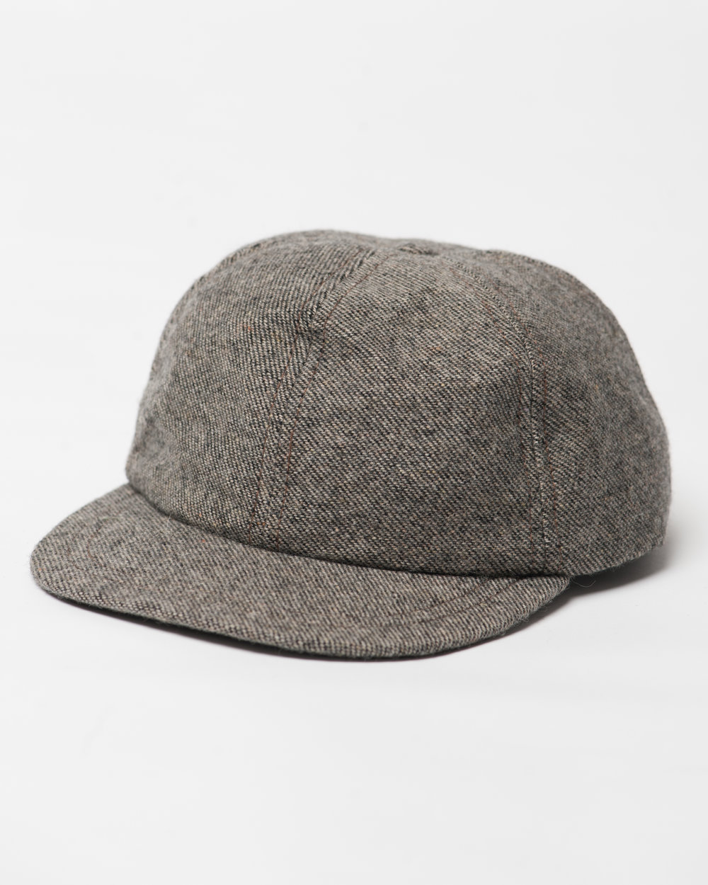 Kids Brown Black Twill Wool Cap Front FW17.jpg