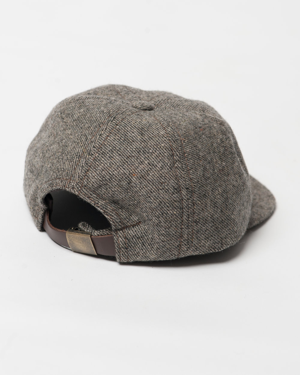 Kids Brown Black Twill Wool Toddler Cap Back FW17.jpg