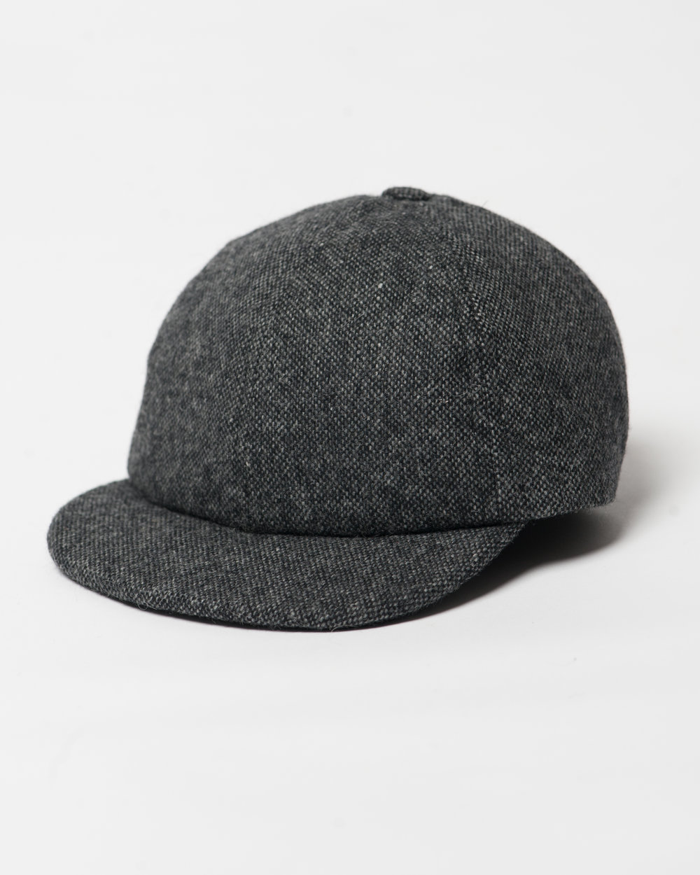 Kids Black Mix Wool Infant Cap Front FW17.jpg