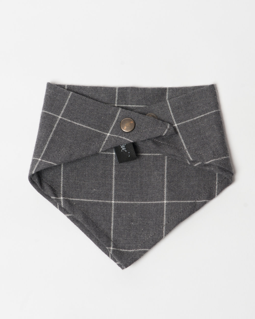 Kids Charcoal Windowpane Bandana Front FW17.jpg