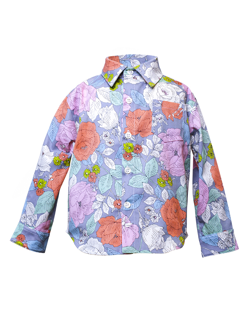Kids Floral Print Button Up Jacket Front.jpg