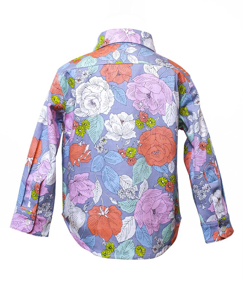 Kids Floral Print Button Up Jacket Back.jpg